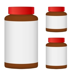 Brown Blank Bottle Set For Packaging Design Set 3 vector image