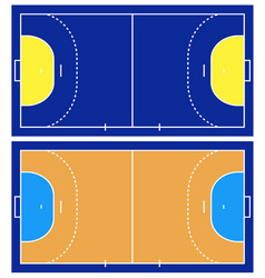 Handball court isolated vector