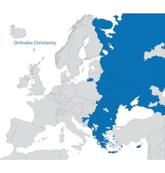 Eastern orthodoxy in europe vector