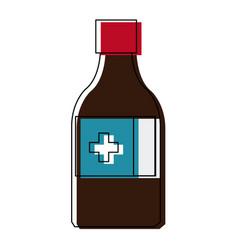 Medicine bottle icon health care product vector