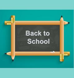 School board with pencils back to school vector