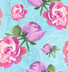 Seamless floral pattern backgrounds vector