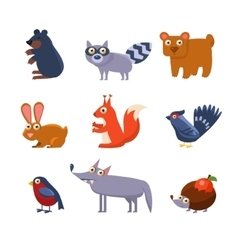 Wild forest animals vector