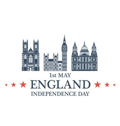 Independence day england vector