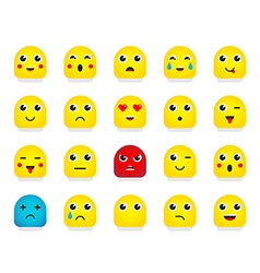 Set of emoticons or emoji vector