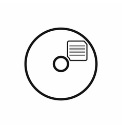 Blank CD icon in simple style vector image