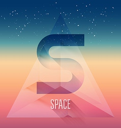 Abstract futuristic background with stars in space vector