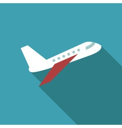 Air plane icon flat vector image vector image