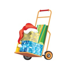 and presents Isolated vector image vector image