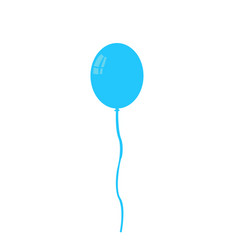 balloon isolated icon on white background vector image vector image
