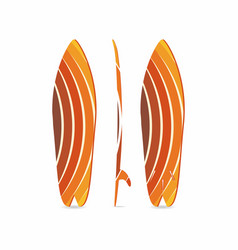 classic surfboard three-sided surfboard three vector image vector image