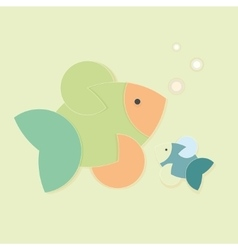 Colour creative fish vector
