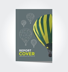 Cover report hot air balloon pattern vector