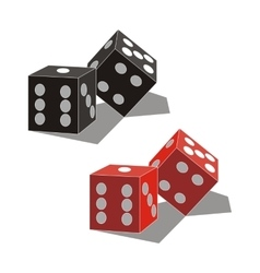 Dice set 01 vector image vector image