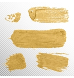 Gold Texture Paint Stain EPS 10 vector image vector image