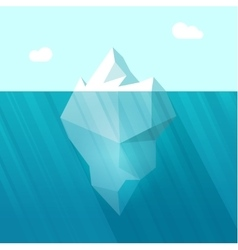Iceberg big berg in ocean vector