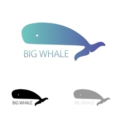 image of a big whale Whale logo for your vector image vector image