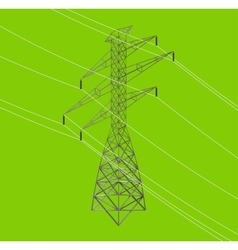 Isometric high power voltage line vector