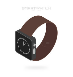 isometric smart watches isolated on white vector image vector image