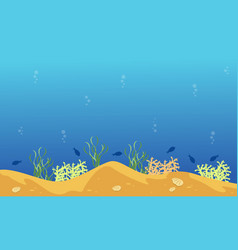 Landscape of underwater style with fish vector