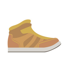 Leather autumn sneaker shoe isolated footwear vector