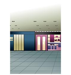 Mall shops vector