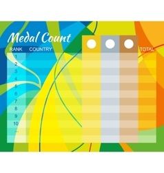 Medal count design vector