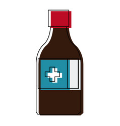 Medicine bottle icon health care product vector