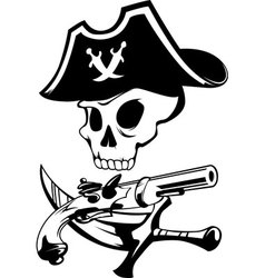 Pirate sign vector