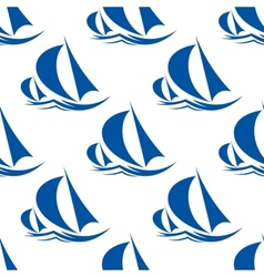 Racing yachts seamless pattern vector