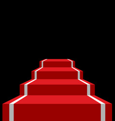red carpet stage isolated vip ladder in dark vector image