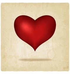 red heart old background vector image vector image
