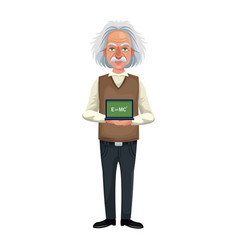 scientist man cartoon icon vector image