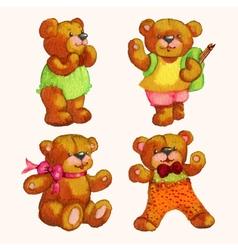 Teddy bears vector