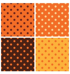 Thanksgiving dotted retro pattern collection vector image vector image