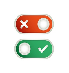 Toggle switch icon vector