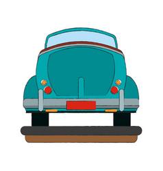 vintage car backview vector image vector image