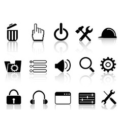 Web work tool icons vector