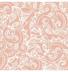 Seamless elegant paisley lace pattern vector image