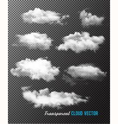 Transparent set of cloud vector
