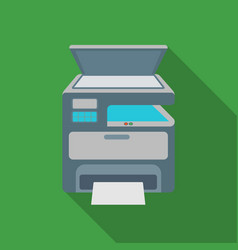 multi-function printer in flate style isolated on vector image
