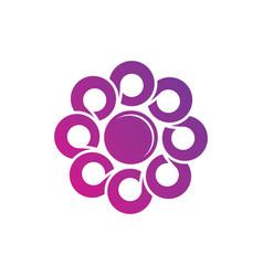 Circle round business logo image vector