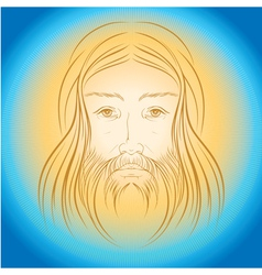 Jesus christ shine light gloride rays vector