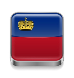 Metal icon of liechtenstein vector