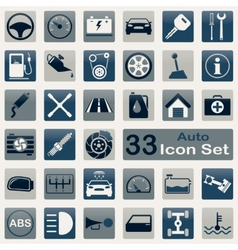 Auto icon set vector