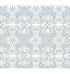 Seamless floral pattern Composition of stylized vector image