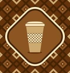 Mug coffee vector image