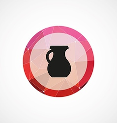 Pitcher circle pink triangle background icon vector
