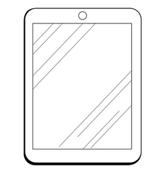Internet tablet vector