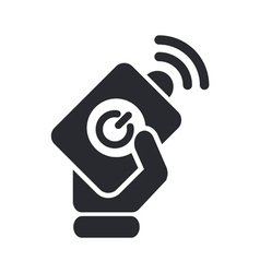 remote icon vector image